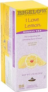 Bigelow Single Flavor Tea, I Love Lemon, 28 Bags-1.79oz