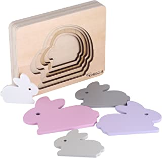 Kindsgut Dierenpuzzel, houten puzzel, baby, konijn