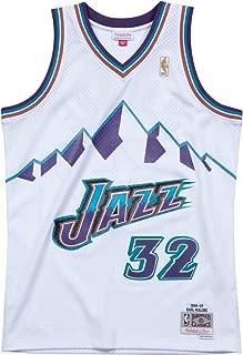Mitchell & Ness Utah Jazz Karl Malone White Swingman Jersey