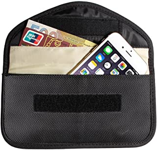Black Canvas Protective Anti-Radiation Anti-tracking Anti-spying Signal Blocking Case Bag or Cell Phone Privacy Protection and Car Key FOB