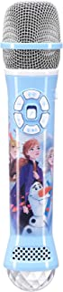 eKIds DIsney Frozen 2 Bluetooth Karaoke Microphone with LED Disco Party Lights, Portable Bluetooth Speaker Compatible with Apple Samsung Siri and Google Assistant, Karaoke Machine for Kids