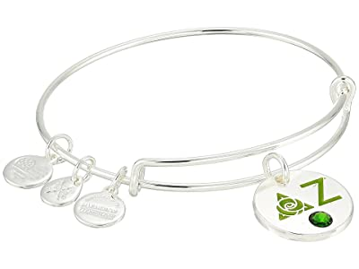 Alex and Ani Color Infusion Delta Zeta II Bangle (Shiny Silver) Bracelet