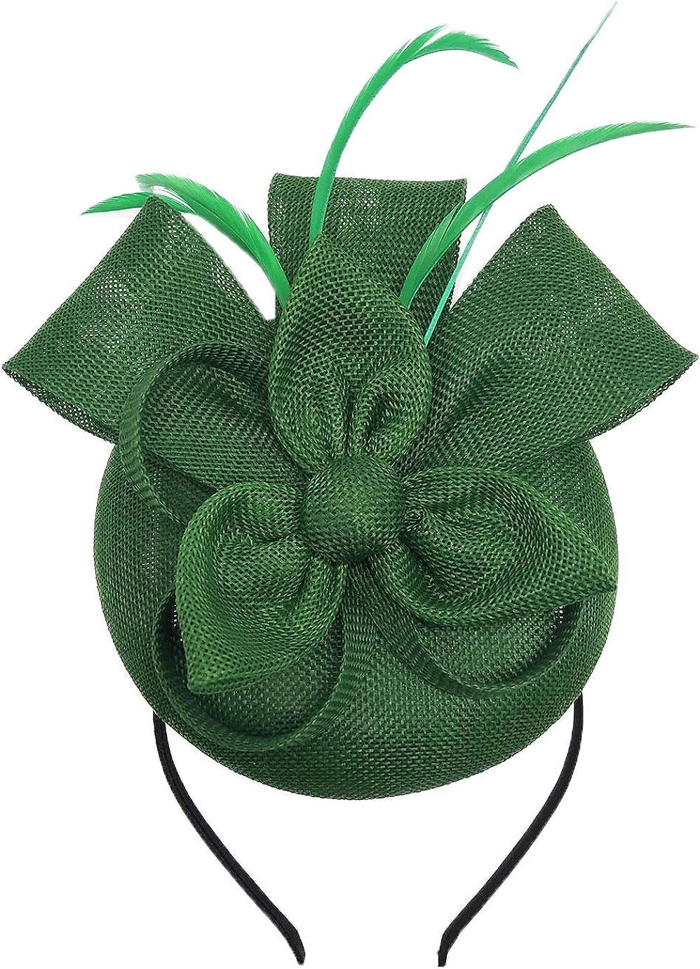 Biruil Fascinators Hat for Women Girls Sinamay Flower Feathers Tea Party Cocktail Headband Hair Clip