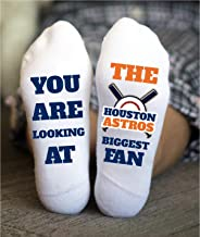 Houston Astros Fan Socks Funny Birthday Gift Baseball Team