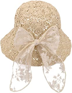 قبعات HUIYAO للأطفال البنات الصغار قابلة للتعبئة مع فيونكة للاستخدام في الهواء الطلق والسفر على الشاطئ وصيد الأسماك