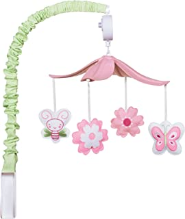Trend Lab Felt Floral Musical Crib Mobile, Butterfly and Bees Baby Mobile, Floral and Butterflies Nursery Décor