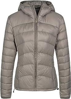 Women's Hooded Packable Down Jacket Lightweight Chevron Winter Coat