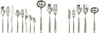 Mepra 105022126 Flatware Set, [126 Piece, Metallic Finish, Dishwasher Safe Cutlery