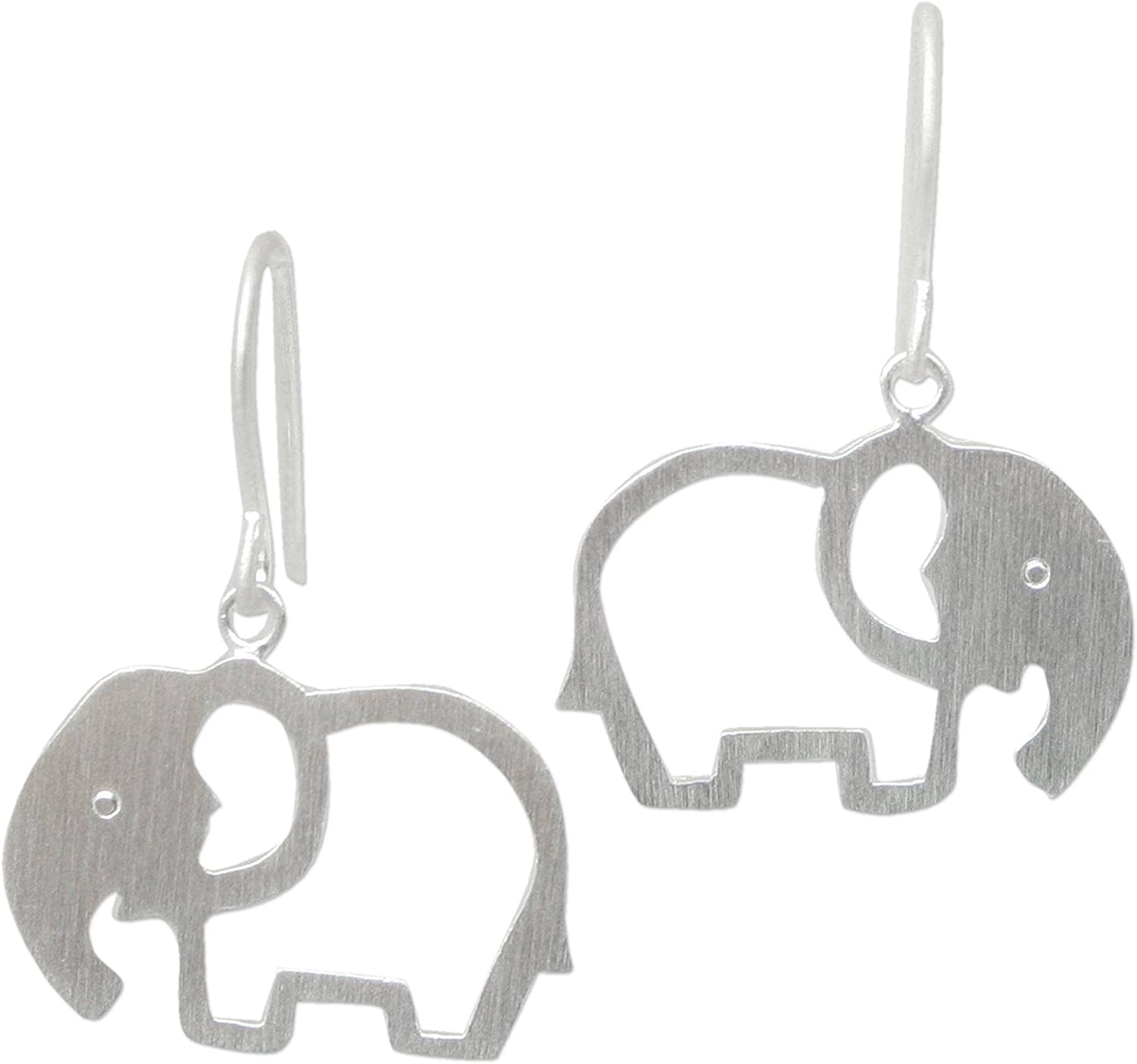 NOVICA .925 Sterling Sale special price Silver Moonlit Max 51% OFF Elephants' Dangle Earrings
