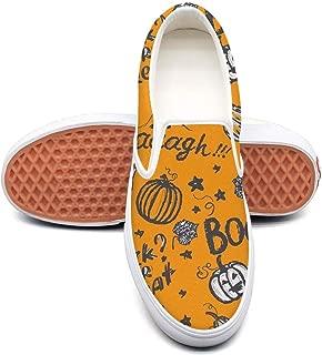 juiertj rt Women Girls Blue Halloween Castle Canvas Low top Custom Outdoor Shoe Skates Sneakers