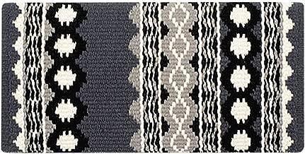 Mayatex Riverland Saddle Blanket, Charcoal/Ash/Cream/Black