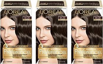L'Oréal Paris Superior Preference Fade-Defying + Shine Permanent Hair Color, 5A Ash Brown, 3 COUNT Hair Dye