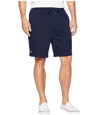 Lacoste Sport Fleece Shorts (Navy Blue) Men