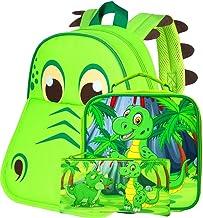 "3PCS Toddler Backpack Boys, 12"" Dinosaur Boolbag and Lunch Bag Set"