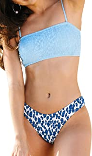 CUPSHE Women's Bandeau Bikinis Set