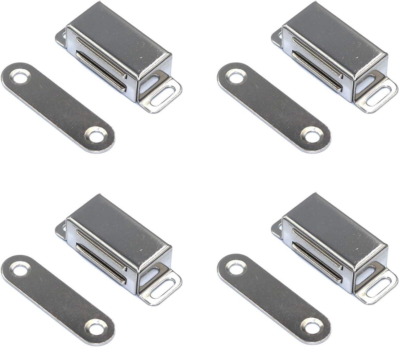 FGen 4pcs Stainless 5 ☆ popular Steel Magnetic M Cabinet Door Tucson Mall Single