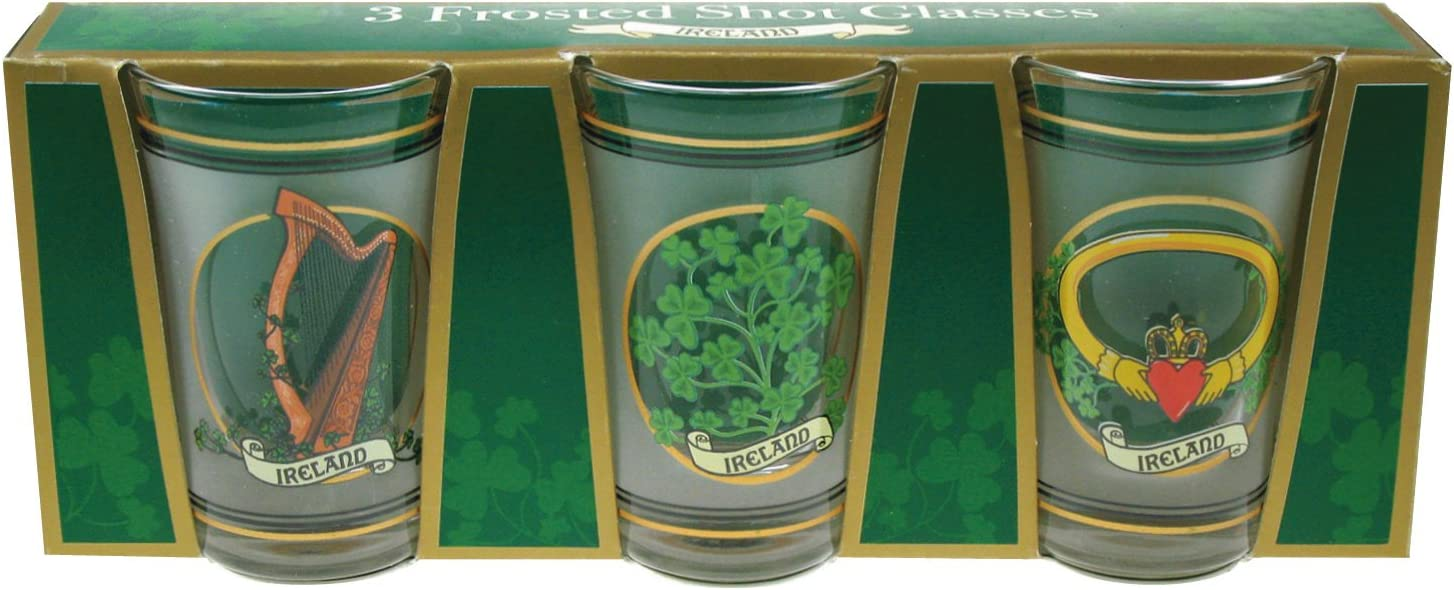 Max 43% OFF Frosted Cheap super special price Irish Shot Glasses Set of 3