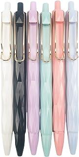 Seedrulia Retractable Gel Pens, Black Ink, Cute Pens, Pastel Pens Barrel, Premium Fine Writing Pens, Fine Point, 0.5mm, Me...