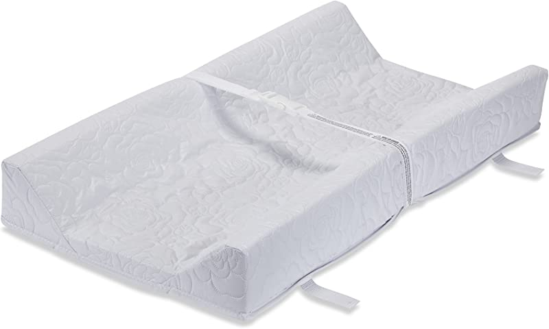 LA Baby Waterproof Contour Changing Pad 32 Made In USA Easy To Clean Quilted Cover W Non Skid Bottom Safety Strap Fits All Standard Changing Tables Dresser Tops For Best Infant Diaper Change