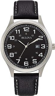 بولوفا ساعة رسمية مينا سوداء ستانلس ستيل للرجال 96B276