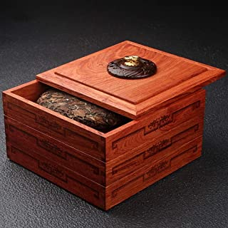 Organisateur de Rangement pour boîte à thé Unpainted Palissandre en Bois Massif Boîte à Thé Stacked thé gâteau Boîte de Ra...