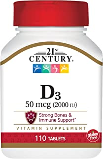 21st Century D3 2000 IU Tablets, 110 Count