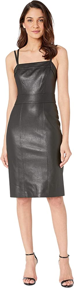 Strappy Pleather Bodycon Dress