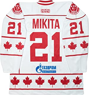 Lutch Stan Mikita Team Canada 40th Anniversary 1972 Summit Series White Hockey Jersey (60 (5X))