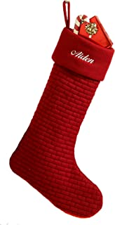 Burgundy Soft Quilted Cotton Christmas Stocking