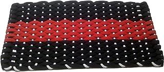 Rockport Rope Doormats 2030348 Indoor and Outdoor Doormats, 20 by 30-Inch, Navy with Red Stripe