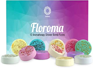 Floroma Shower Bomb Set of 12 - USA Made Shower Steamers - Aromatherapy - Essential Oils For Home Spa - Vaporizing Shower Tablelts - Shower Melts Han - Perfect Hand Made Men, Women, Teen