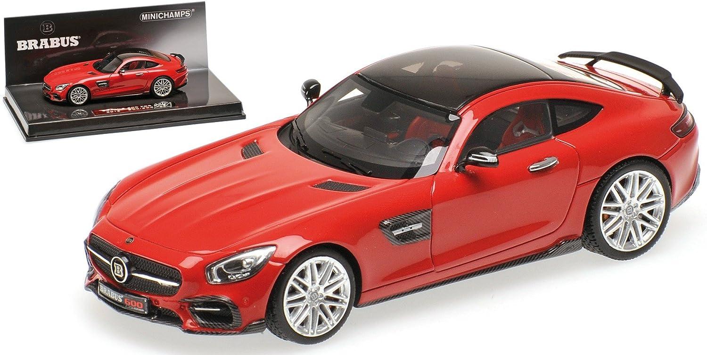 Brabus 600 For GT S, red, 2016, Modellauto, Fertigmodell, Minichamps 1 43