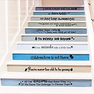 Stairway Decals Quote Wall Sticker for Stairs Staircase Decor Stair Vinyl Disney Quotes..