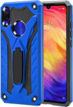 AFARER Xiaomi Redmi Note 7/ Note 7 pro case,Military Grade 12ft Drop Tested Protective Case with Kickstand,Military Armor Dual Layer Protective Cover Compatible with Xiaomi Redmi Note 7 6.3 inch Blue