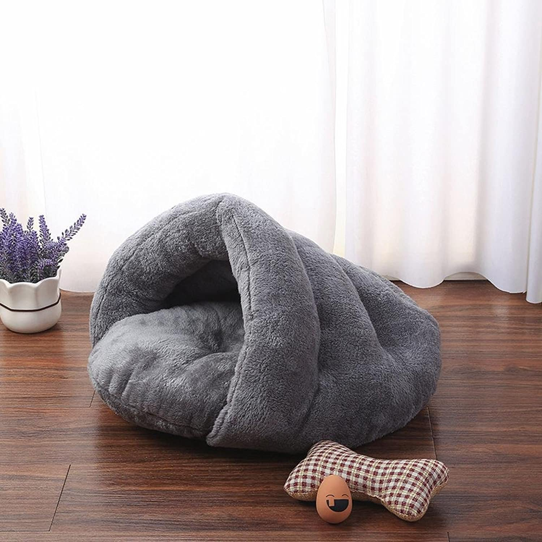 Dixinla Pet Bed Arctic Velvet Washable Kennel Cat nest
