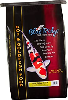 Blue Ridge Fish Food Pellets, Koi and Goldfish Growth Formula Blend, Mini 1/8