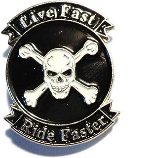 Motorcycle English Pewter Lapel Pin Badge XTSPBP01 Motorbike