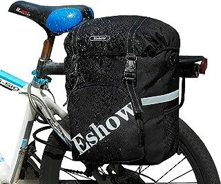 comprar comparacion Eshow 18L Alforjas para Bicicleta Sillín Bolsa con Cubierta Impermeable Asiento Trasero de Portaequipajes Montaña Cycling ...