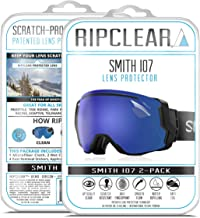 RIPCLEAR Lens Protector for Smith I/O7 Goggles - Protect Your Lens from Scratches While You Ride, Crystal Clear USA Military Grade Protection, 2 Pack