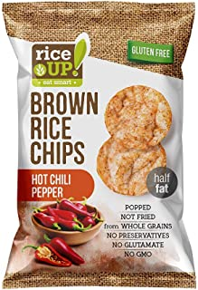 Rice up Chips Chili Pepper, 60 gm (Pack of 1)