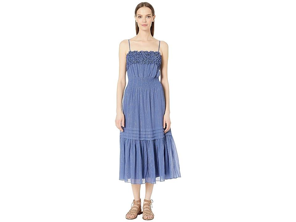 Rebecca Taylor Sleeveless Lurex Tank Dress (Iris) Women