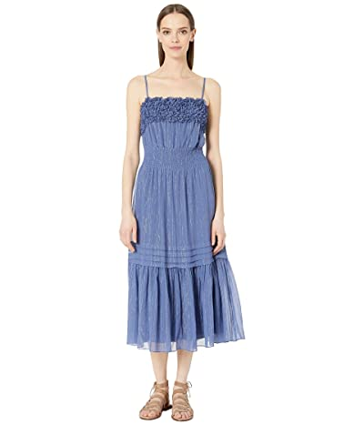 Rebecca Taylor Sleeveless Lurex Tank Dress (Iris) Women