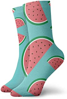 Luxury Calcetines de Deporte Print Red Watermelon Adult Short Socks Cotton Sports Socks for Mens Womens Yoga Hiking Cycling Running Soccer Sports