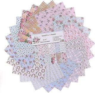 """YARRUMI 24 Sheets Scrapbook Paper Pack,Designer Paper Pad Floral Singe-Side Patterned Paper 6"""" Stamp Paper Pads Themed Val..."""
