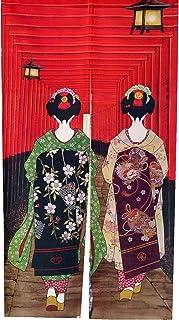 LIGICKY Noren Japanischer Stil Türvorhang Kyoto Geisha Girl