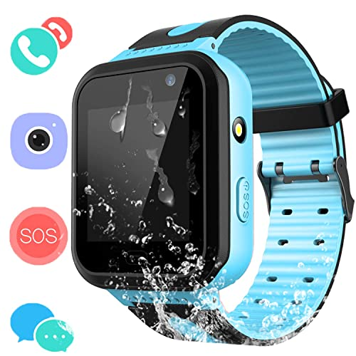 Kids Waterproof Smart Watch Phone - Boys & Girls IP67 Waterproof Smart Watch Phone with Camera