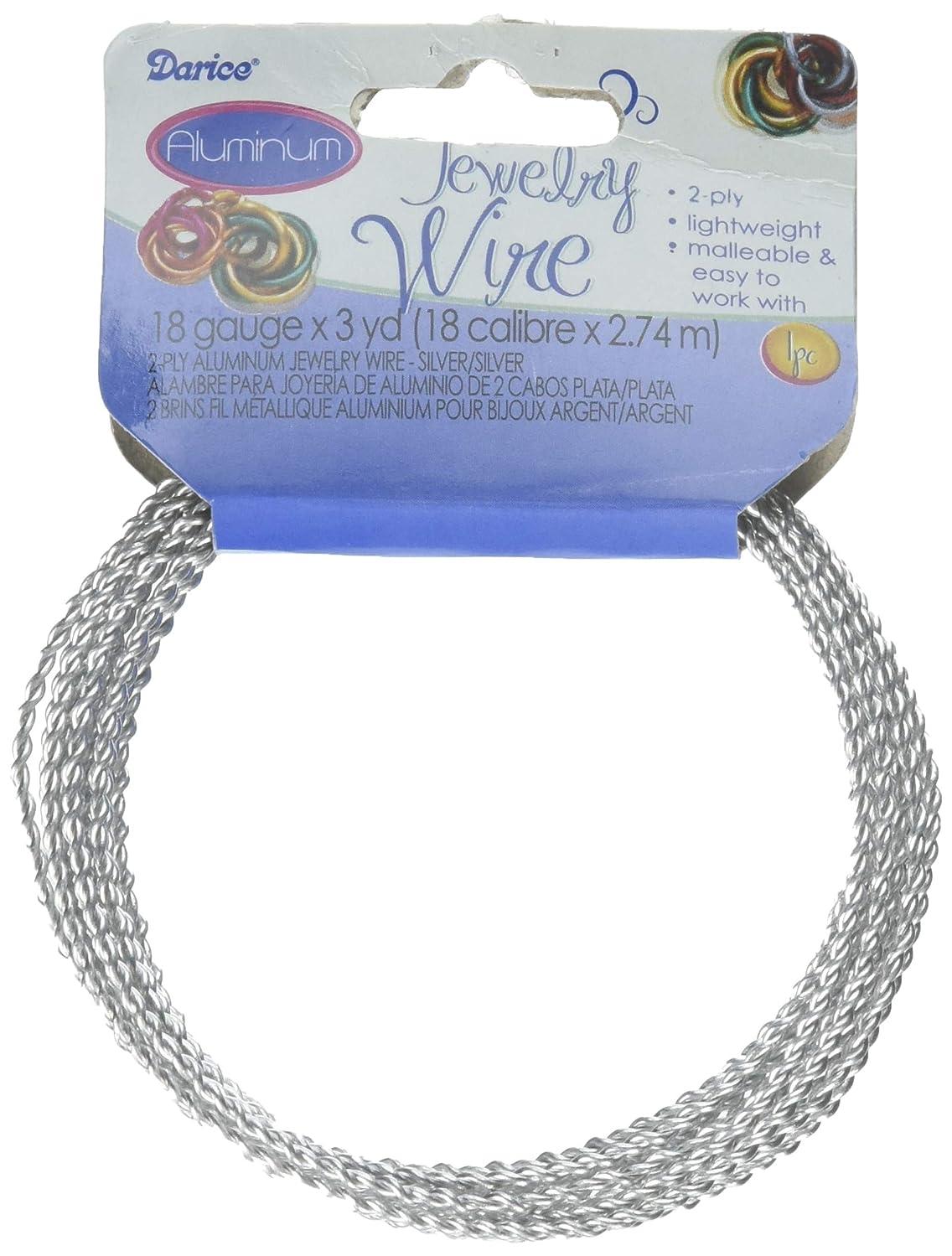 Jewelry Designer 1999-4165 Alum Wire 18Ga 2 Ply Silversilvr X3Yd rlhh062493159