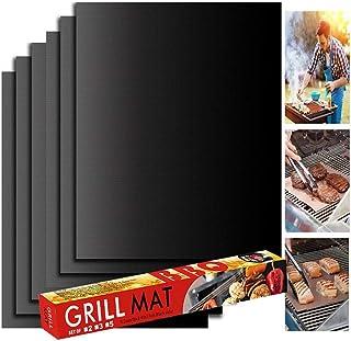 YOWAO Tapis de Cuisson Barbecue de, revêtement antiadhésif en téflon - faciles à Nettoyer, réutilisables, durables, résist...