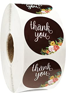 Thank You Stickers Roll for Wedding Kids Birthday Party Baby Shower Business Boutiques Chalkboard Envelopes Friends and Family Celebrations - 1000 Count 1.5