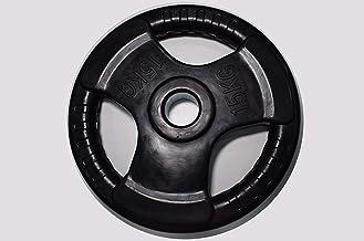 Skyland Rubber Gym Weight Plate, EM-9264 - 15 Kgs (Black)